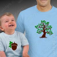 T-shirts Carvalho Bolota Pai - Bebé