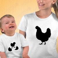 T-shirts Mãe Galinha - Bebé