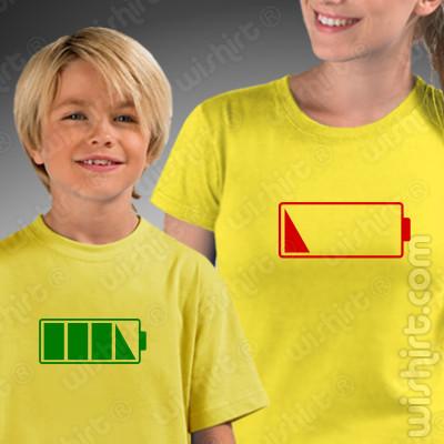 Conjunto de duas t-shirts Sem Bateria Mãe e Filho(a) a combinar