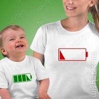 T-shirts Sem Bateria Mãe - Bebé