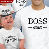 T-shirts Boss Man Mini Boss Bebé