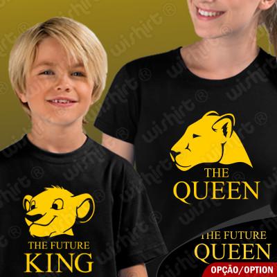 T-shirts Conjunto The Queen The Future King Queen Mãe e Filho(a)