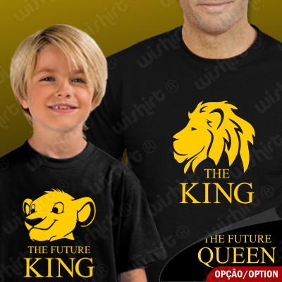 Conjunto T-shirts The King The Future King Criança para Pai e Filho(a)