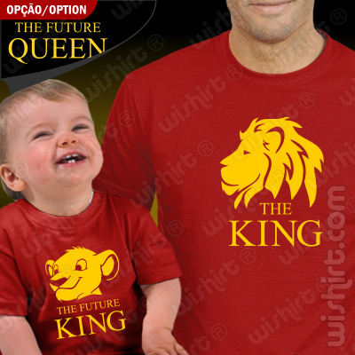Conjunto de duas T-shirts The King The Future King Pai e Filho Bebé