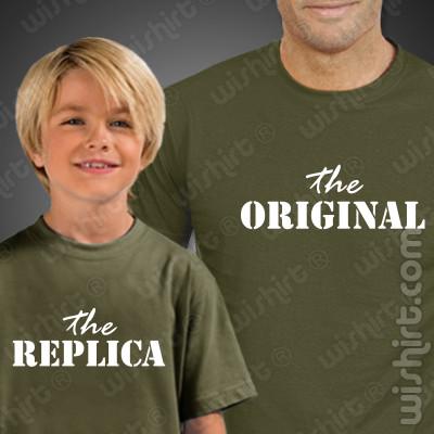 Conjunto T-shirts The Original The Replica Criança Pai Filho(a)
