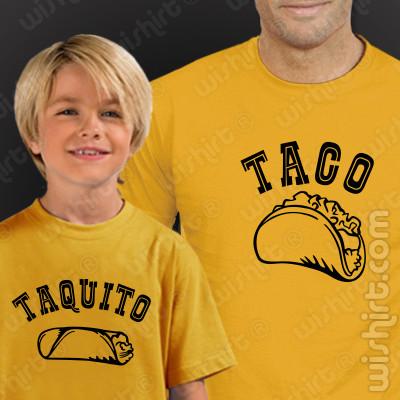 Roupa a Combinar Taco Taquito para Pai e Filho