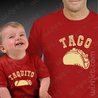 Roupa a Combinar Taco Taquito para Pai e Bebé