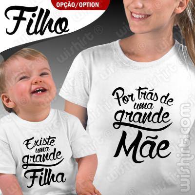 Roupa Combinar Mãe e Bebé Por trás de uma Grande Mãe Existe...