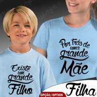 T-shirts Por trás de uma Grande Mãe - Criança