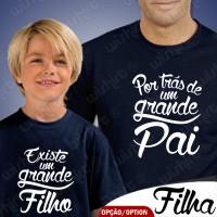 T-shirts Por trás de um Grande Pai Existe - Criança