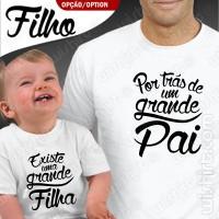 T-shirts Por trás de um Grande Pai Existe - Bebé