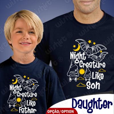 Roupa a Combinar Night Creature para Pai e Filho