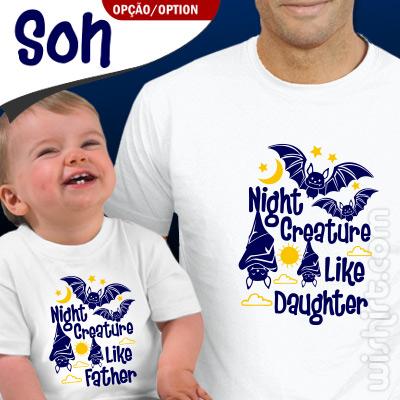 Roupa a Combinar Night Creature para Pai e Bebé