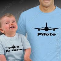T-shirts Piloto Co-piloto Aviões Bebé