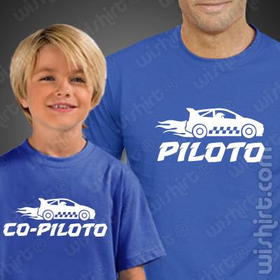 Tshirts a combinar Piloto Co-piloto Carros Criança para Pai e Filho