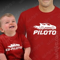 T-shirts Piloto Co-piloto Carros Bebé