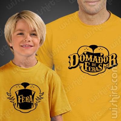 Conjunto de t-shirts Pai e Filho Domador de Feras - Prenda para Pai