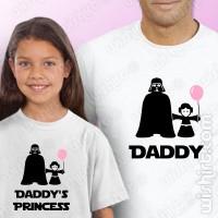 T-shirts Daddy's Princess Criança