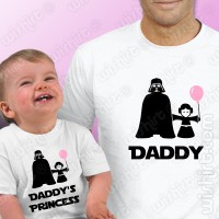 T-shirts Daddy's Princess Bebé