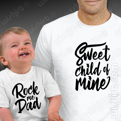 Conjunto de t-shirts a combinar para Pai e Bebé Sweet Child of Mine