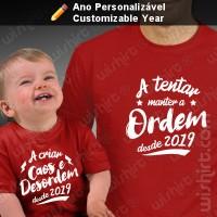 T-shirts Caos e Desordem Bebé