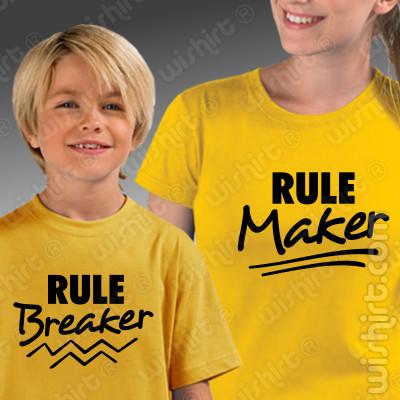 Conjunto de t-shirts a condizer para Mãe e Filho Rule Maker - Breaker