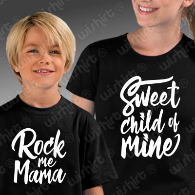 T-shirts a condizer Mãe Filho(a) - Sweet Child of Mine - Rock me Mama