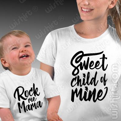 Conjunto de t-shirts a combinar para Mãe e Bebé - Sweet Child of Mine
