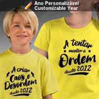 T-shirts Caos e Desordem Mãe Filho(a)