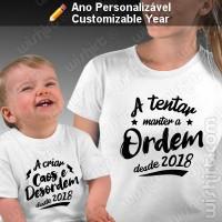 T-shirts Caos e Desordem Mãe Bebé