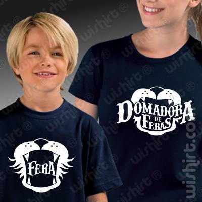Conjunto de t-shirts a condizer para Mãe e Filho(a) Domadora de Feras