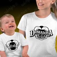 T-shirts Domadora de Feras Mãe Bebé