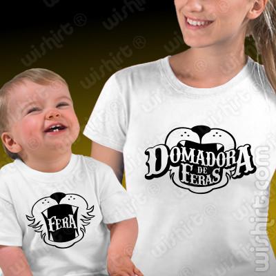 Conjunto de t-shirts a combinar para Mãe e Bebé Domadora de Feras