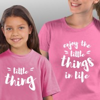 T-shirts Enjoy the Little Things in Life Mãe Filha