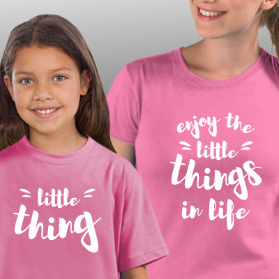 T-shirts a combinar para Mãe e Filha - Enjoy the Little Things in Life
