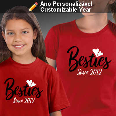 T-shirts personalizadas a condizer para Mãe e Filha Besties Since
