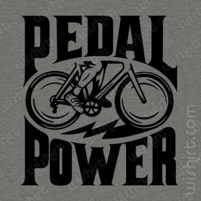 T-shirt Pedal Power - Camisolas de Bicicletas - Prenda de Aniversário