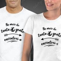 T-shirts No Meio de Tanta Gente