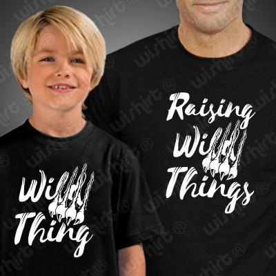 T-shirts a combinar para Pai e Filho ou Filha Raising Wild Things
