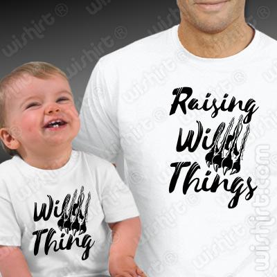 T-shirts a condizer para Pai e Bebé Raising Wild Things