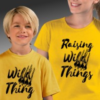 Raising Wild Things Mother - Son T-shirts