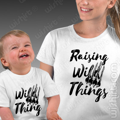 T-shirts a condizer para Mãe e Bebé Raising Wild Things