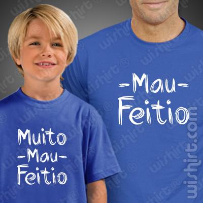 T-shirts a combinar para Pai e Filho ou Filha com Mau Feitio