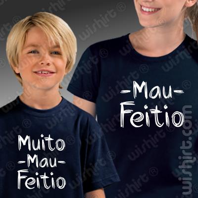T-shirts Mau Feitio a combinar para Mãe e Filho ou Filha
