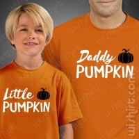 T-shirts Daddy Pumpkin Little Pumpkin Pai Criança