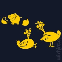 T-shirt Galinha Infiel