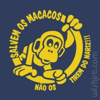 T-shirt Salvem os Macacos