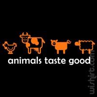 T-shirt Animals Taste Good