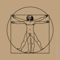 T-shirt Da Vinci Vitruvian Man