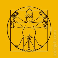 T-shirt Da Vinci Homer